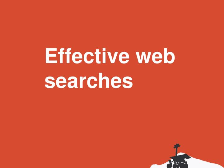Effective web searches