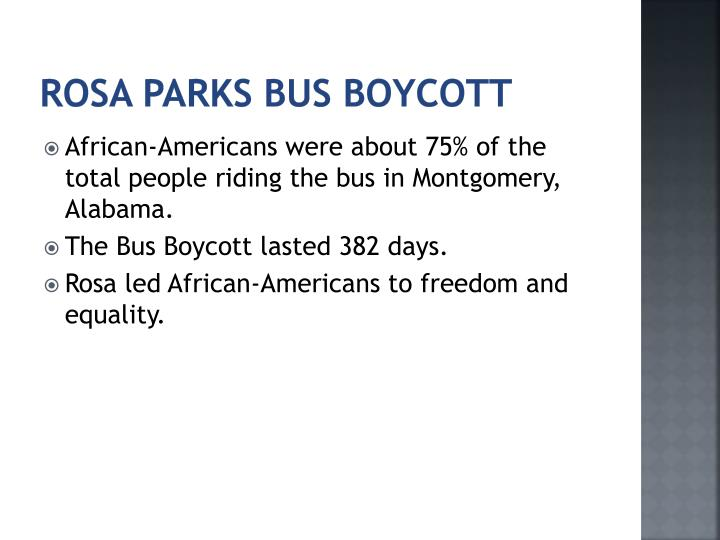 Rosa parks bus boycott