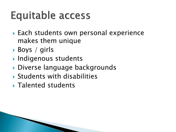 Equitable access