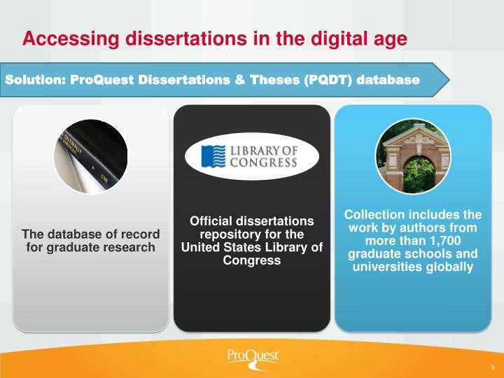 Accessing dissertations in the digital age