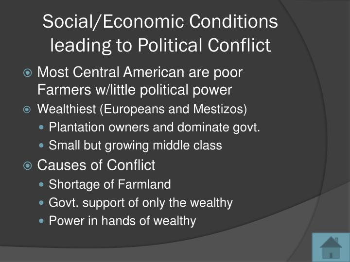 Social/Economic Conditions leading to Political Conflict
