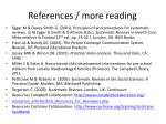 references more reading