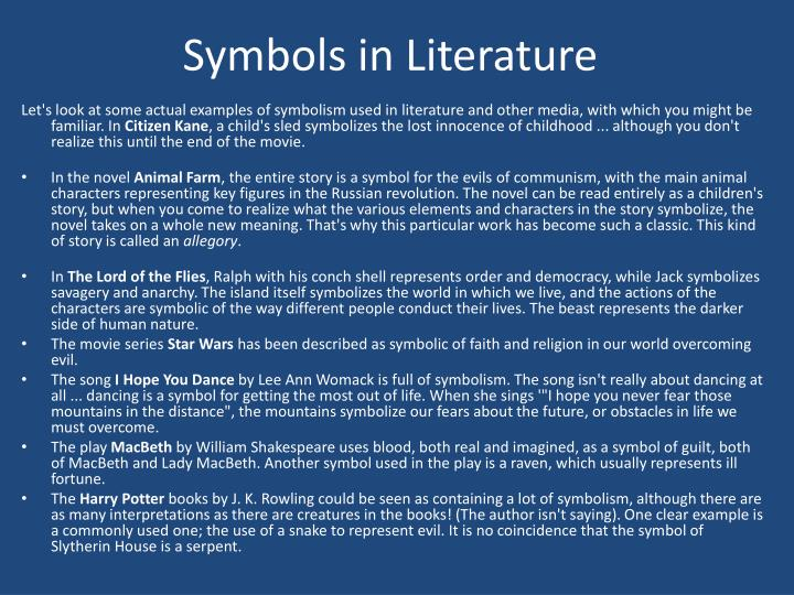 Symbols in Literature