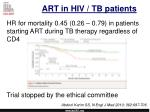art in hiv tb patients