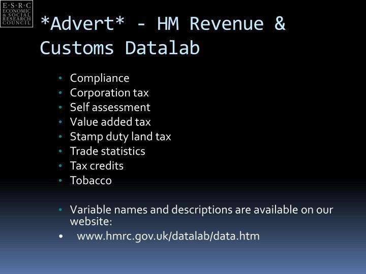 *Advert* - HM Revenue & Customs