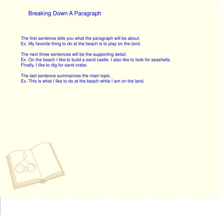 Breaking Down A Paragraph