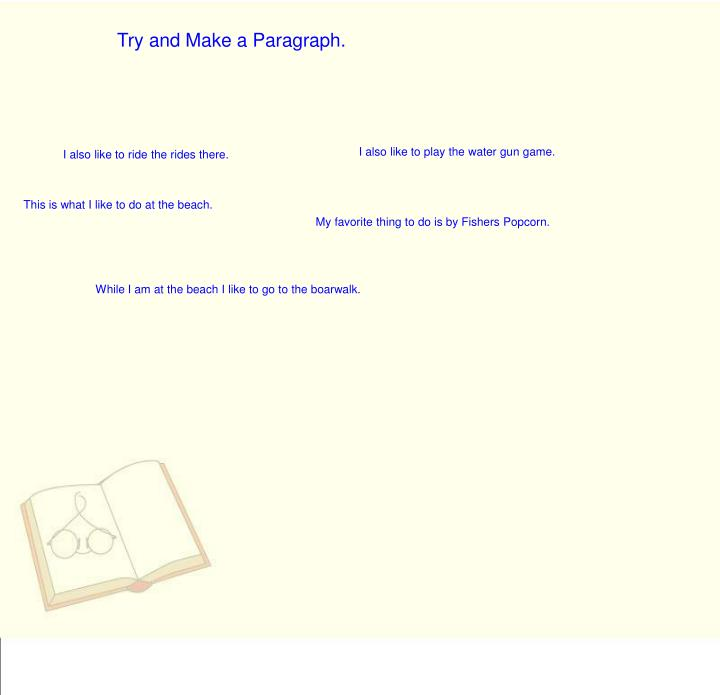 Try and Make a Paragraph.