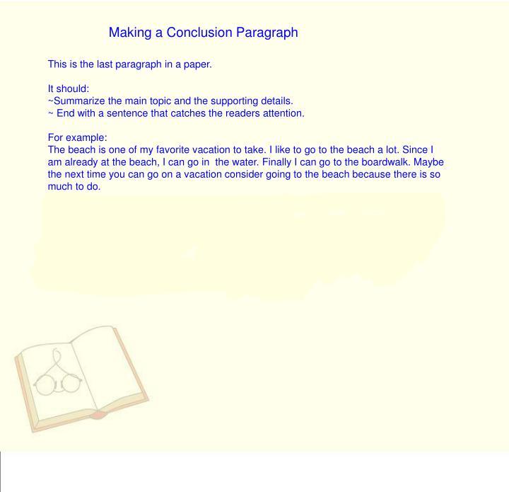 Making a Conclusion Paragraph