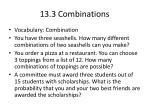13 3 combinations
