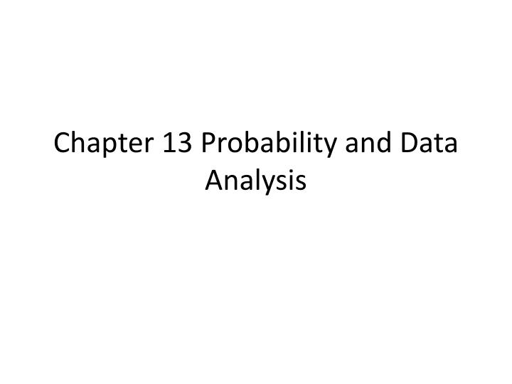 chapter 13 probability and data analysis n.