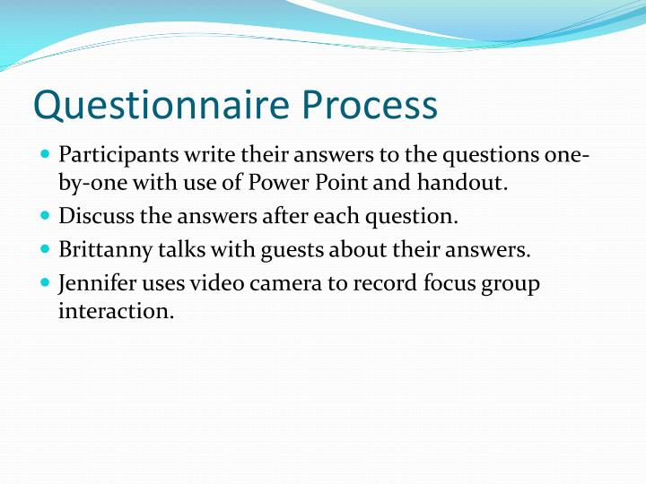 Questionnaire Process