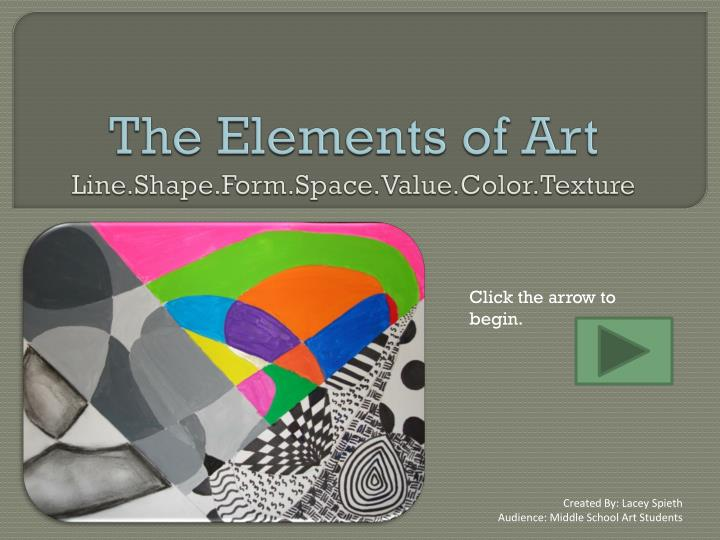 Line Shape Space : Ppt the elements of art line shape form space value