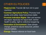 other eu policies