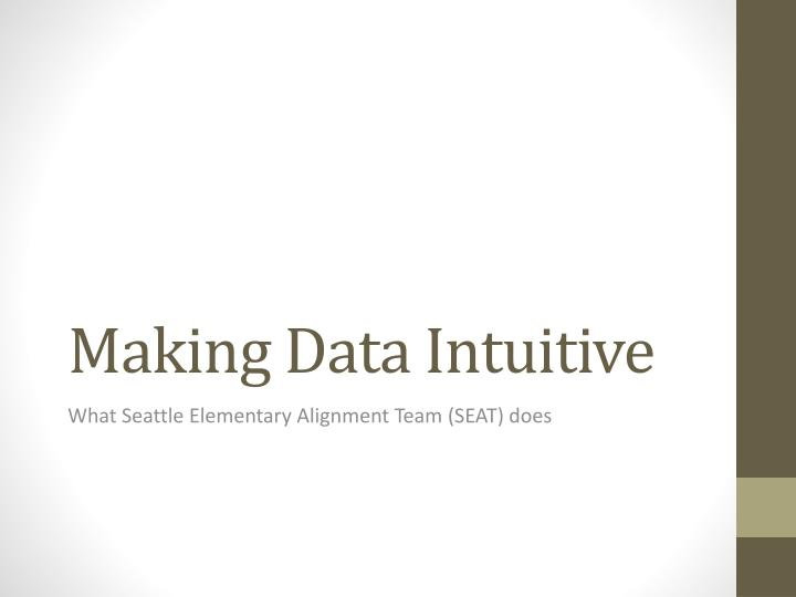 Making Data Intuitive