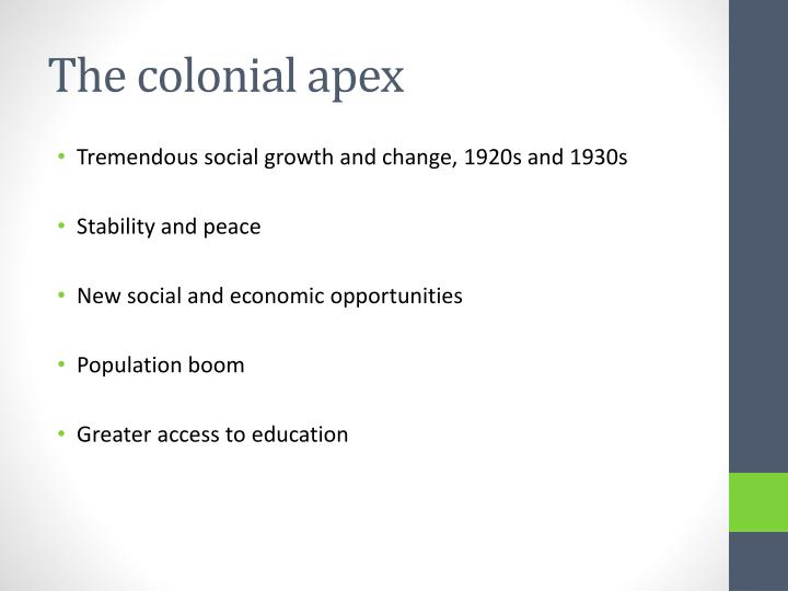 The colonial apex