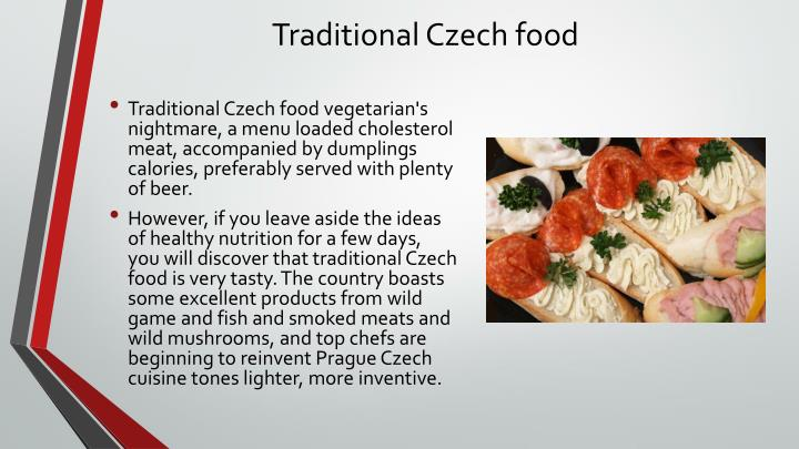 Traditional Czech food