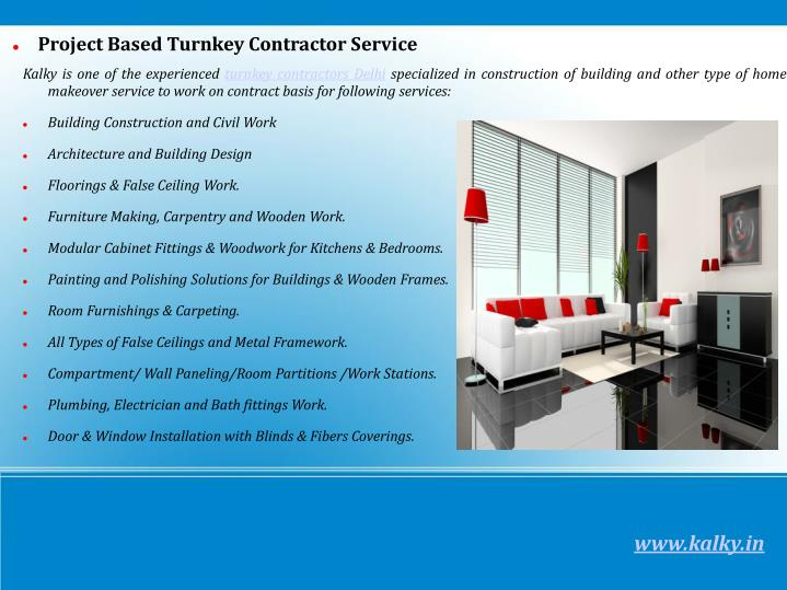 Project Based Turnkey Contractor Service