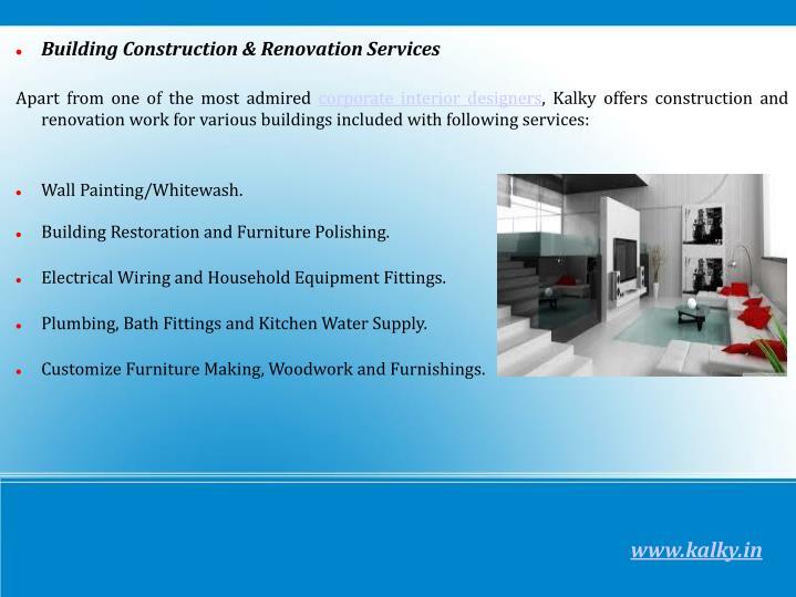 Building Construction & Renovation Services