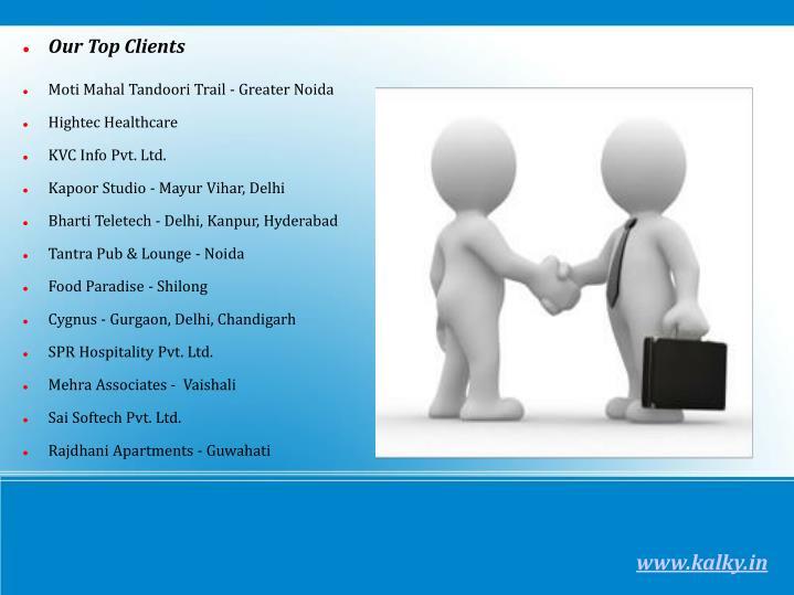 Our Top Clients