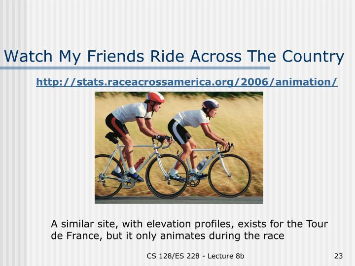 Watch My Friends Ride Across The Country