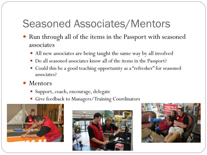 Seasoned Associates/Mentors