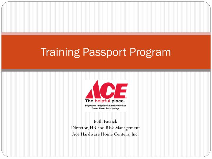 Training passport program