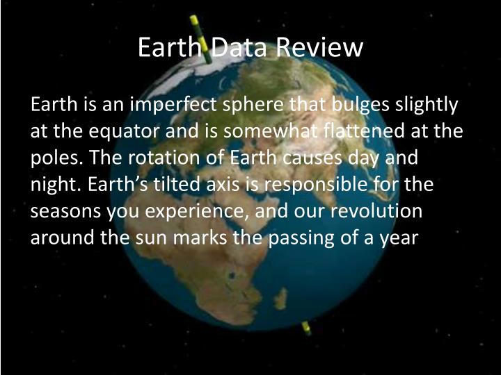 Earth Data Review
