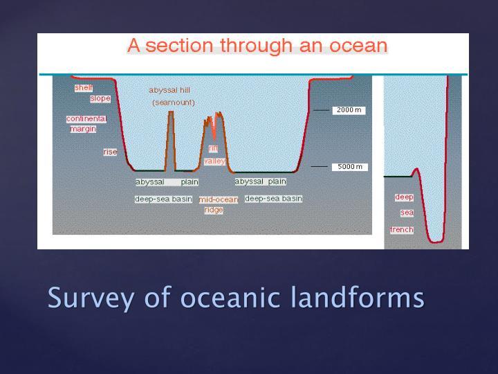 Survey of oceanic landforms