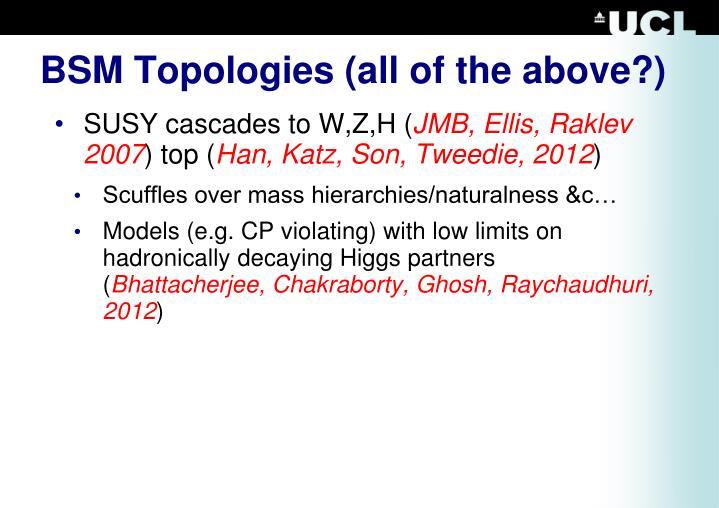 BSM Topologies
