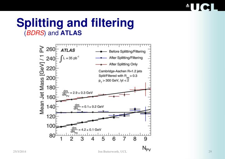 Splitting and filtering