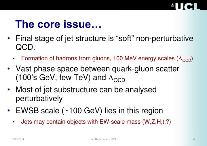 The core issue…