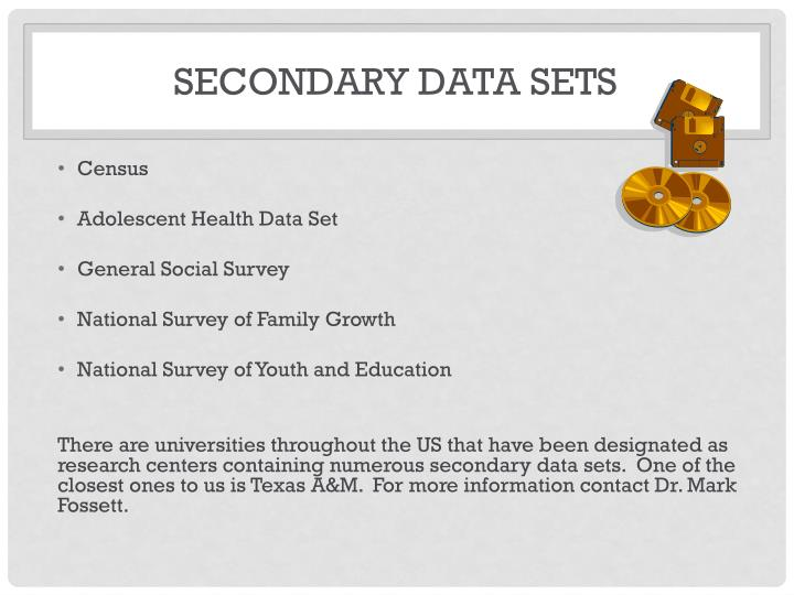 Secondary Data Sets