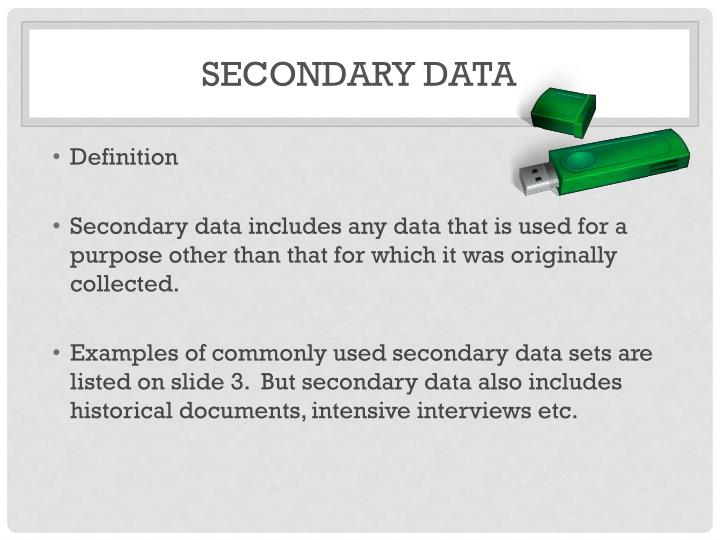 Secondary data1