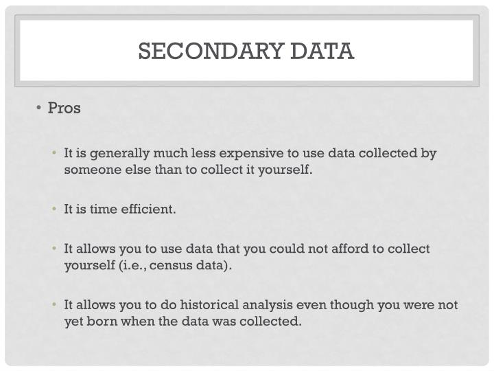 Secondary data2