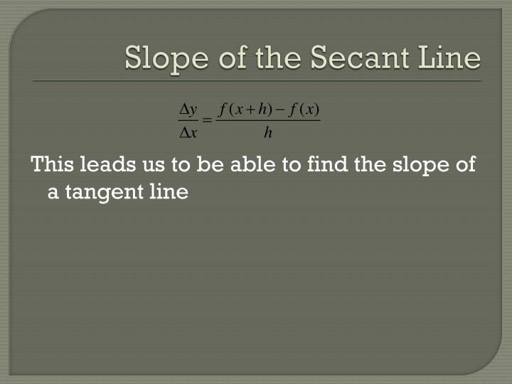 Slope of the Secant Line