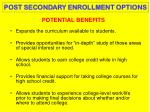 potential benefits