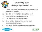 employing staff 6 steps you need to