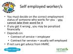 self employed worker s