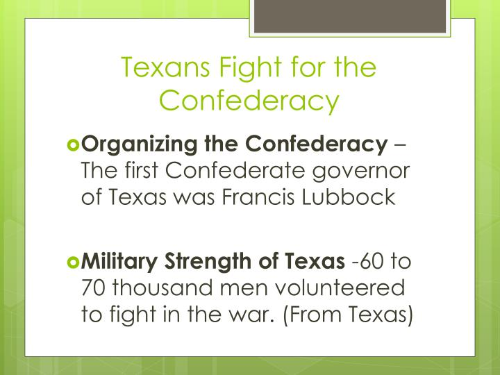 Texans Fight for the Confederacy