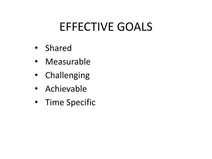 Effective goals