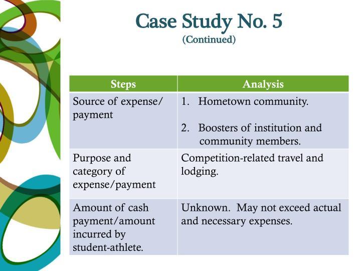 Case Study No. 5