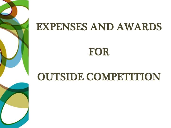 Expenses and awards