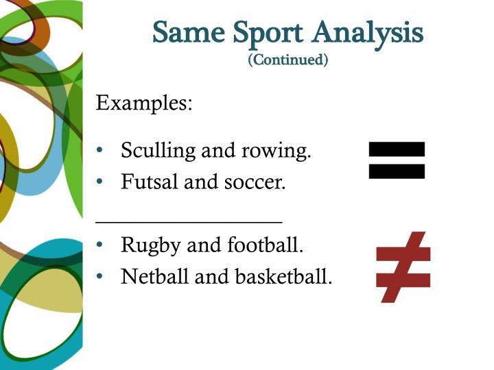 Same Sport