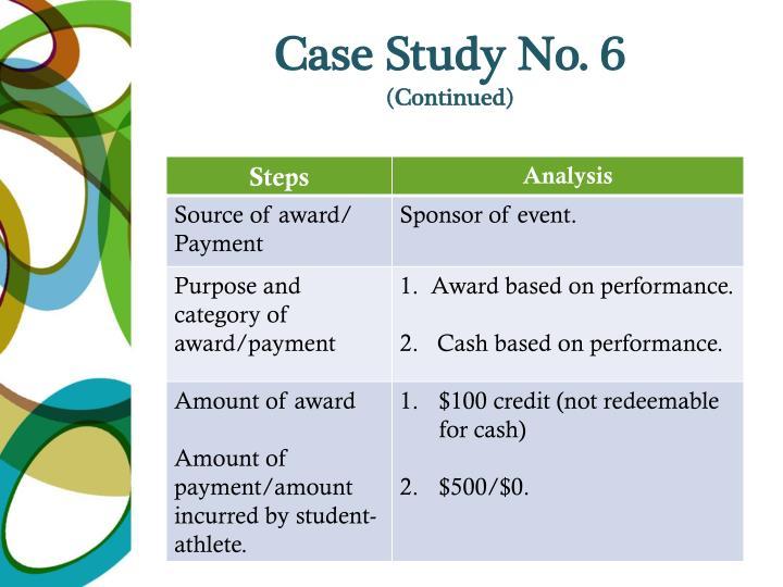 Case Study No. 6