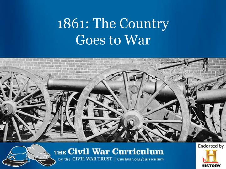 1861 the country goes to war n.