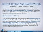 excerpt civilian and gazette weekly november 13 1860 galveston texas