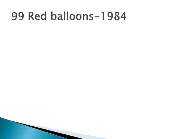 99 Red balloons-1984