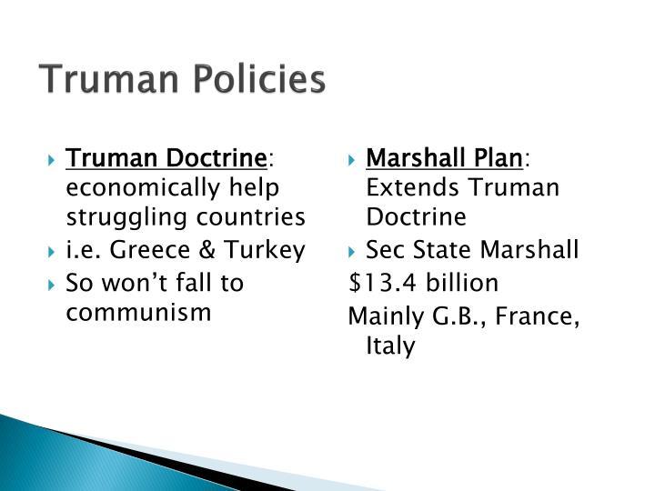 Truman Policies