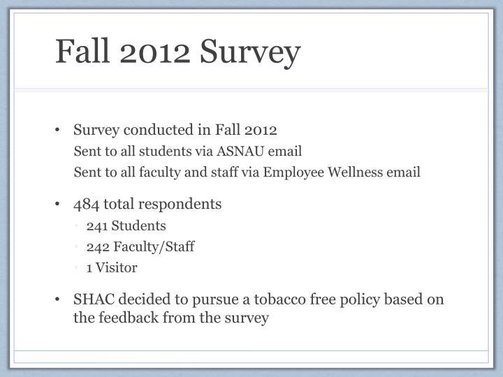 Fall 2012 Survey