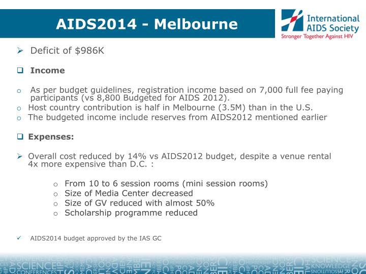 AIDS2014 - Melbourne